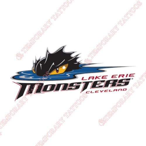 Lake Erie Monsters Customize Temporary Tattoos Stickers NO.9056