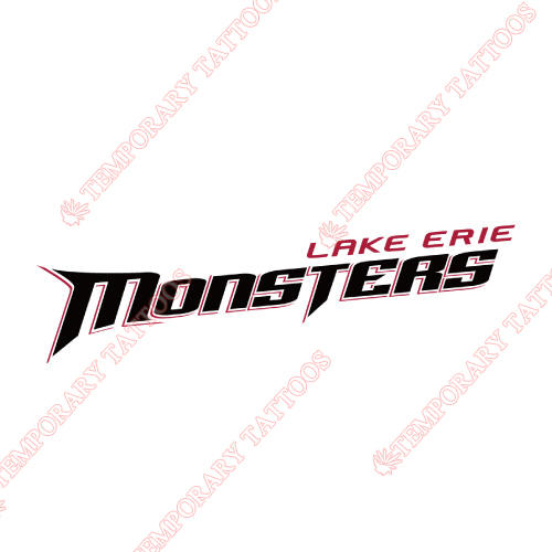 Lake Erie Monsters Customize Temporary Tattoos Stickers NO.9059