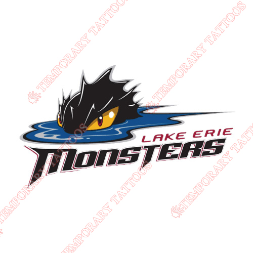 Lake Erie Monsters Customize Temporary Tattoos Stickers NO.9063