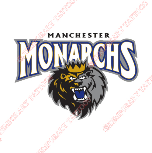 Manchester Monarchs Customize Temporary Tattoos Stickers NO.9068