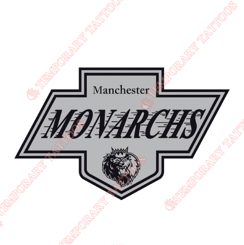 Manchester Monarchs Customize Temporary Tattoos Stickers NO.9072