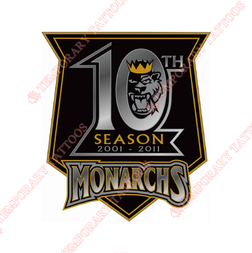 Manchester Monarchs Customize Temporary Tattoos Stickers NO.9073