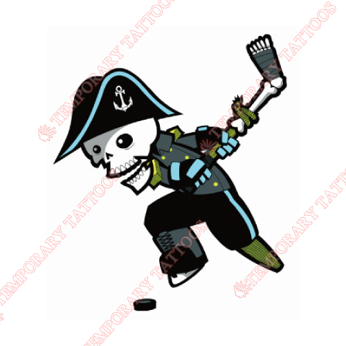 Milwaukee Admirals Customize Temporary Tattoos Stickers NO.9076