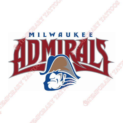Milwaukee Admirals Customize Temporary Tattoos Stickers NO.9077