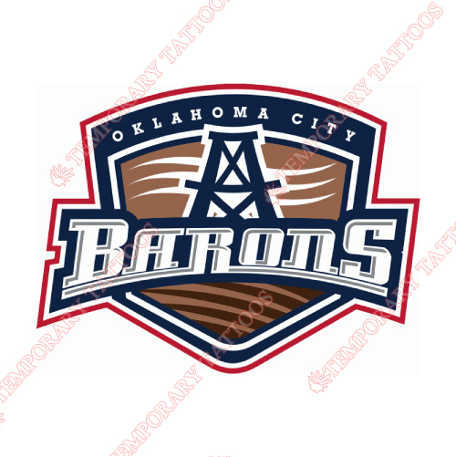 Oklahoma City Barons Customize Temporary Tattoos Stickers NO.9089