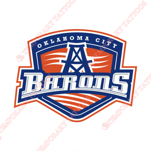 Oklahoma City Barons Customize Temporary Tattoos Stickers NO.9091