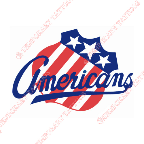 Rochester Americans Customize Temporary Tattoos Stickers NO.9121