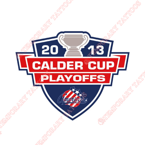 Rochester Americans Customize Temporary Tattoos Stickers NO.9127