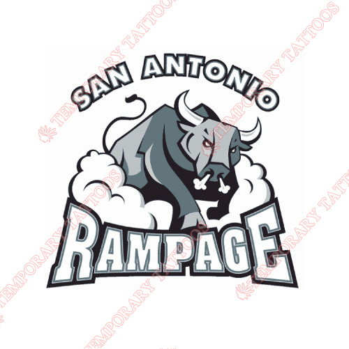 San Antonio Rampage Customize Temporary Tattoos Stickers NO.9132