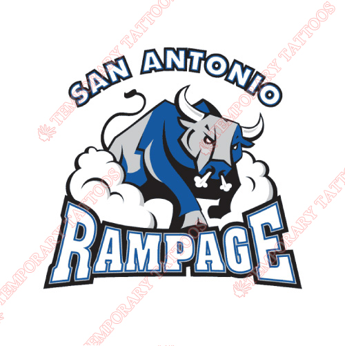 San Antonio Rampage Customize Temporary Tattoos Stickers NO.9134