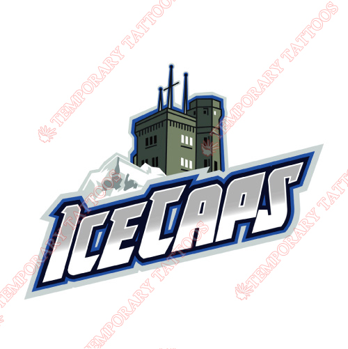 St Johns IceCaps Customize Temporary Tattoos Stickers NO.9152