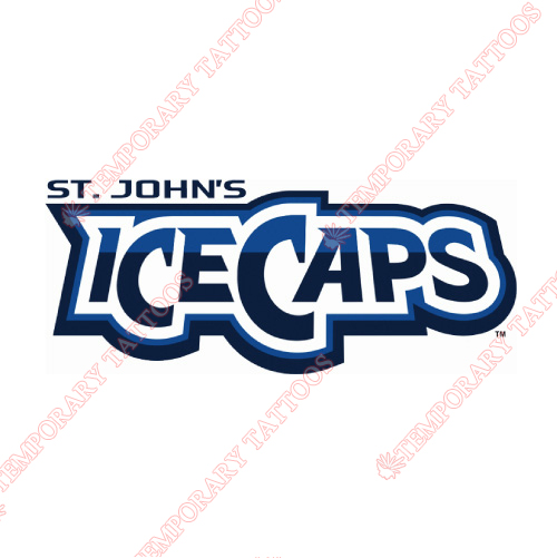 St Johns IceCaps Customize Temporary Tattoos Stickers NO.9153