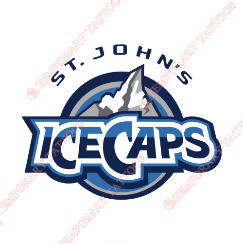 St Johns IceCaps Customize Temporary Tattoos Stickers NO.9154