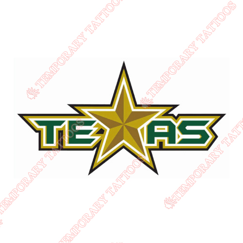 Texas Stars Customize Temporary Tattoos Stickers NO.9166