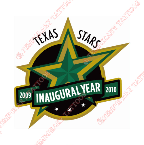 Texas Stars Customize Temporary Tattoos Stickers NO.9167