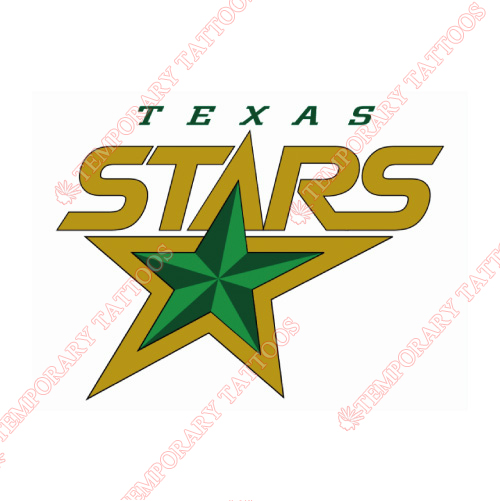 Texas Stars Customize Temporary Tattoos Stickers NO.9168