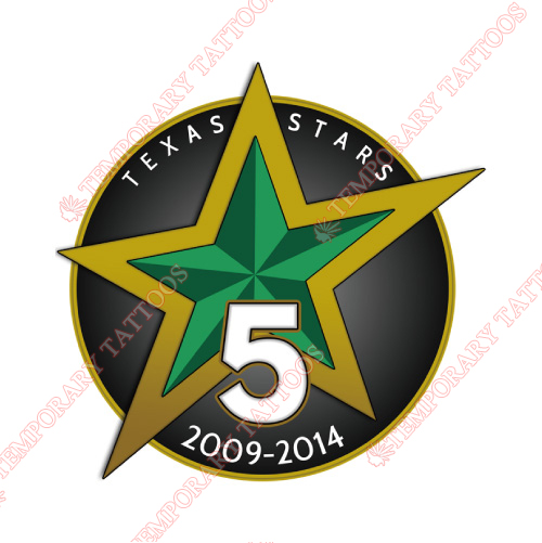 Texas Stars Customize Temporary Tattoos Stickers NO.9169