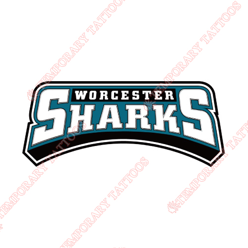 Worcester Sharks Customize Temporary Tattoos Stickers NO.9204