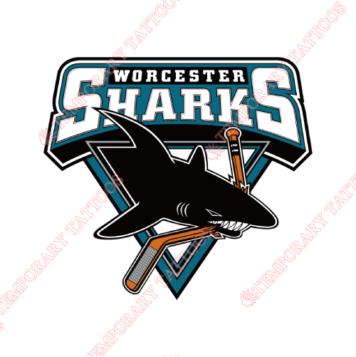 Worcester Sharks Customize Temporary Tattoos Stickers NO.9205