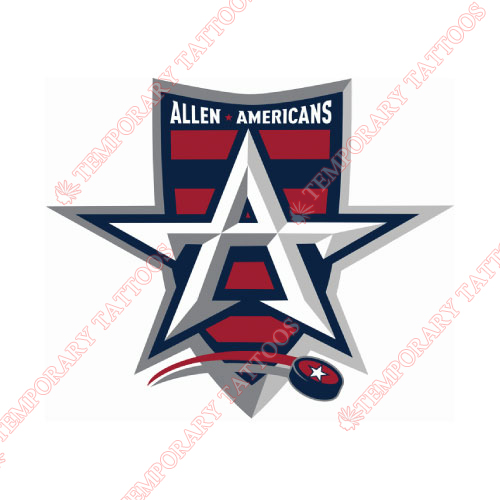 Allen Americans Customize Temporary Tattoos Stickers NO.9226