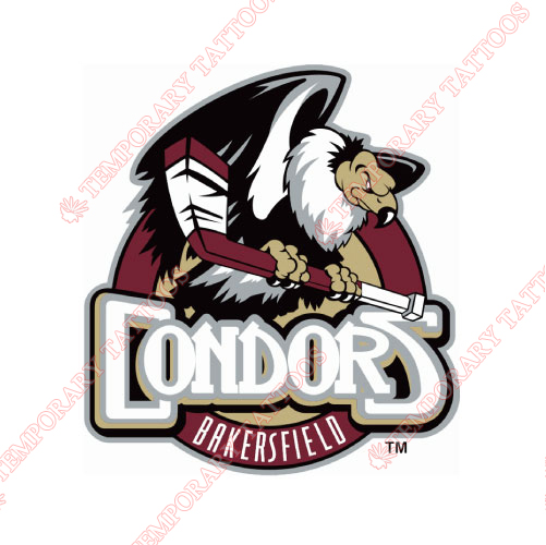 Bakersfield Condors Customize Temporary Tattoos Stickers NO.9229