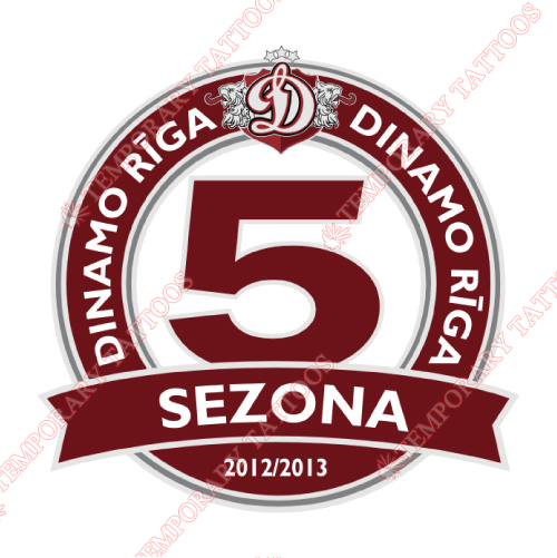 Dinamo Riga Customize Temporary Tattoos Stickers NO.7219