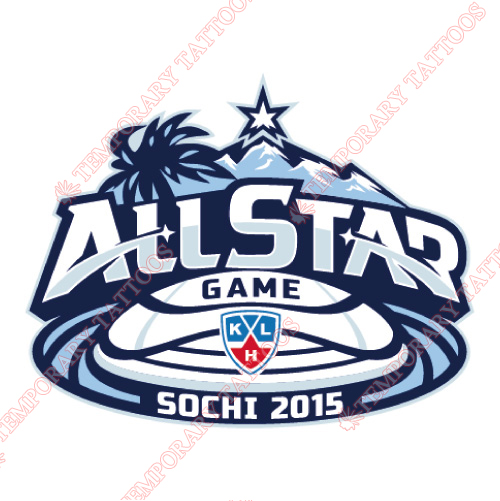 KHL All-Star Game Customize Temporary Tattoos Stickers NO.7259