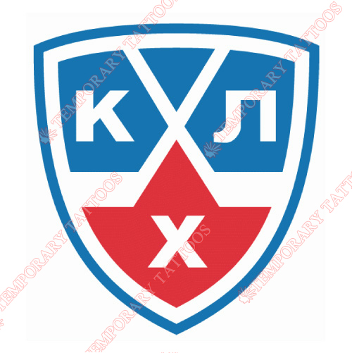 Kontinental Hockey League Customize Temporary Tattoos Stickers NO.7261