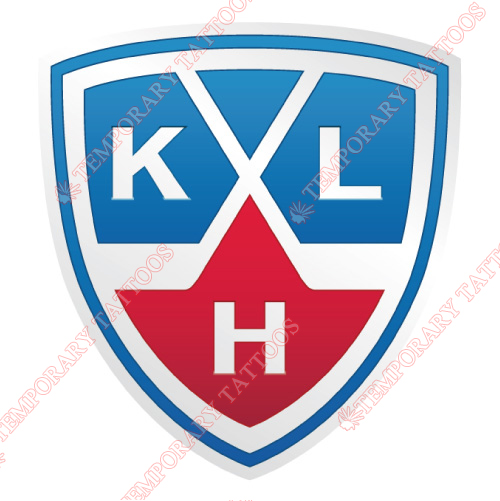 Kontinental Hockey League Customize Temporary Tattoos Stickers NO.7262