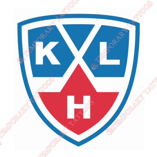 Kontinental Hockey League Customize Temporary Tattoos Stickers NO.7264