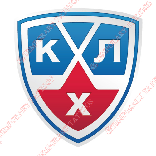 Kontinental Hockey League Customize Temporary Tattoos Stickers NO.7265