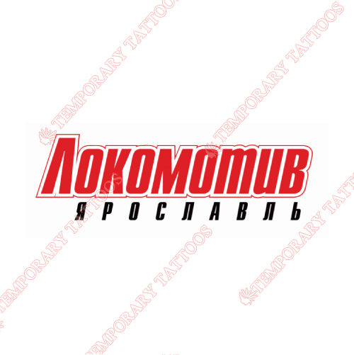 Lokomotiv Yaroslavl Customize Temporary Tattoos Stickers NO.7271