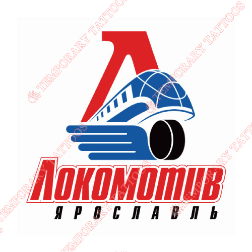 Lokomotiv Yaroslavl Customize Temporary Tattoos Stickers NO.7273