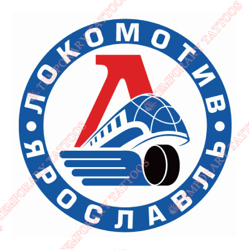 Lokomotiv Yaroslavl Customize Temporary Tattoos Stickers NO.7274
