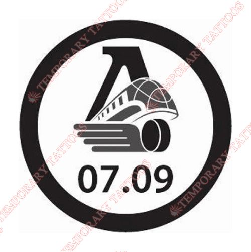 Lokomotiv Yaroslavl Customize Temporary Tattoos Stickers NO.7275