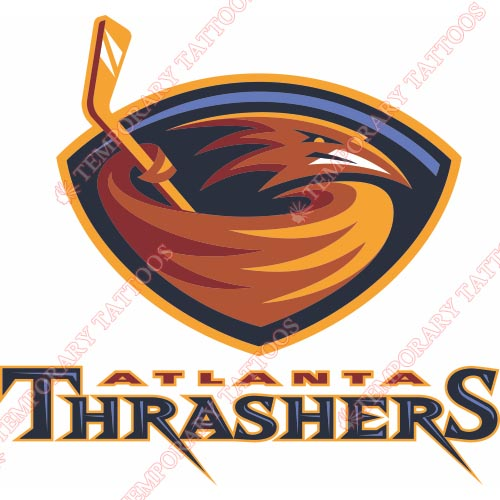 Atlanta Thrashers Customize Temporary Tattoos Stickers NO.65