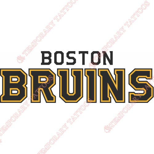 Boston Bruins Customize Temporary Tattoos Stickers NO.69