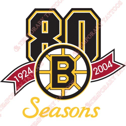 Boston Bruins Customize Temporary Tattoos Stickers NO.73