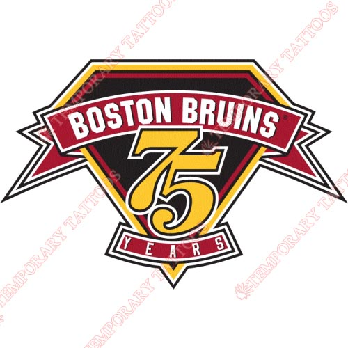 Boston Bruins Customize Temporary Tattoos Stickers NO.74