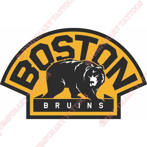 Boston Bruins Customize Temporary Tattoos Stickers NO.75