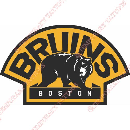 Boston Bruins Customize Temporary Tattoos Stickers NO.76