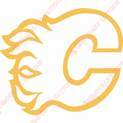 Calgary Flames Customize Temporary Tattoos Stickers NO.101