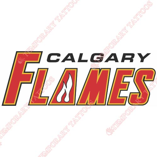 Calgary Flames Customize Temporary Tattoos Stickers NO.96