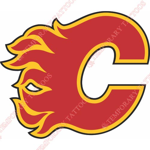Calgary Flames Customize Temporary Tattoos Stickers NO.97