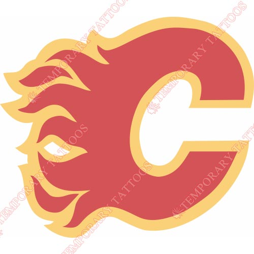 Calgary Flames Customize Temporary Tattoos Stickers NO.98
