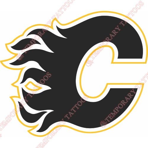 Calgary Flames Customize Temporary Tattoos Stickers NO.99