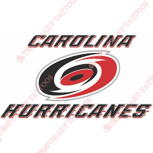 Carolina Hurricanes Customize Temporary Tattoos Stickers NO.107