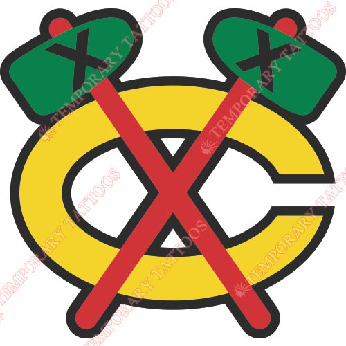 Chicago Blackhawks Customize Temporary Tattoos Stickers NO.110