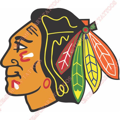 Chicago Blackhawks Customize Temporary Tattoos Stickers NO.112