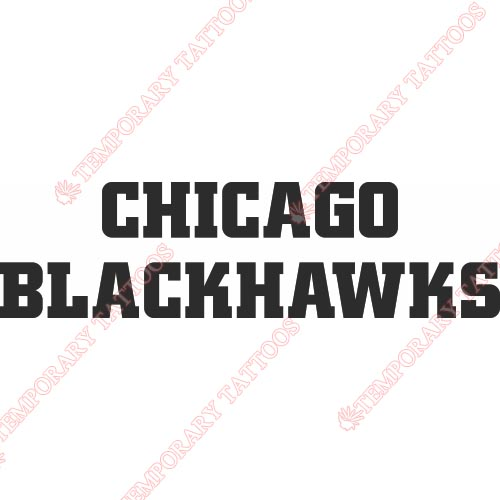 Chicago Blackhawks Customize Temporary Tattoos Stickers NO.113